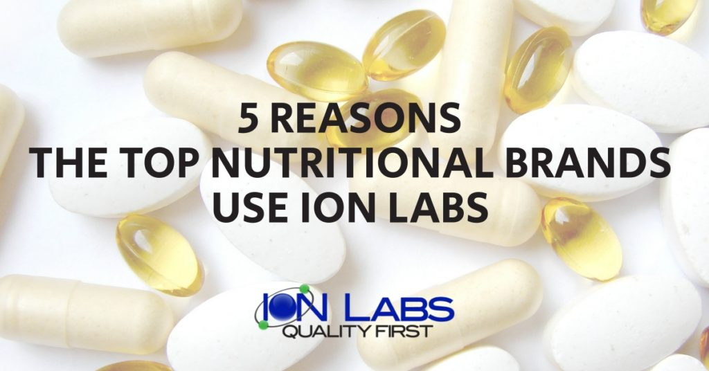 5 Reasons The Top Nutritional Brands Use Ion Labs
