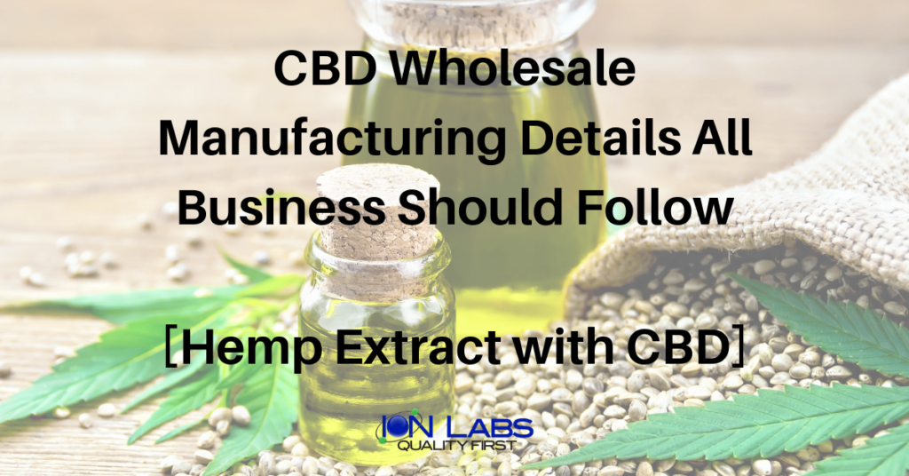 cbd manufacturers private label Archives - Ion Labs
