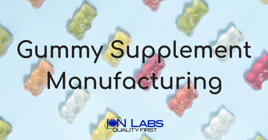 gummy supplement manufacturing